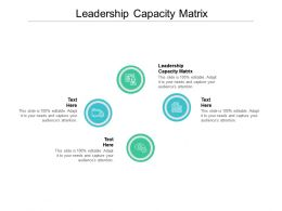 Leadership Capacity Matrix Ppt Powerpoint Presentation Outline Example Cpb