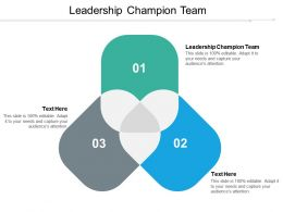 Leadership Champion Team Ppt Powerpoint Presentation Ideas Background Cpb