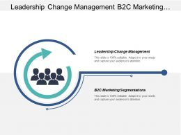 Leadership Change Management B2c Marketing Segmentations Leadership Aspects Cpb