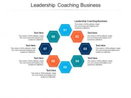 Leadership Coaching Business Ppt Powerpoint Presentation Infographic Template Slides Cpb