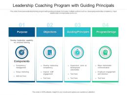 Leadership Coaching Program With Guiding Principals