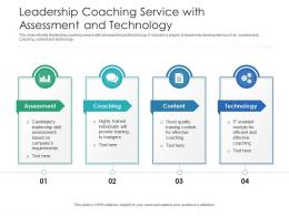 Leadership Coaching Service With Assessment And Technology