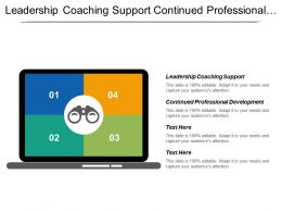 Leadership Coaching Support Continued Professional Development Energy Industrial Sector