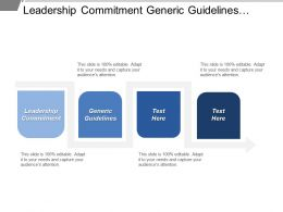 Leadership Commitment Generic Guidelines Clarify Roles People Competence