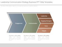 Leadership Communication Strategy Business Ppt Slide Templates