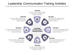 Leadership Communication Training Activities Ppt Powerpoint Presentation Slides Information Cpb