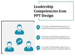 Leadership Competencies Icon Ppt Design