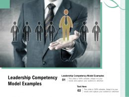 Leadership Competency Model Examples Ppt Powerpoint Presentation Summary Slide Download Cpb
