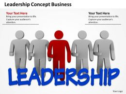 Leadership Concept Business Ppt Graphic Icon