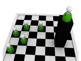 Leadership Concept With Chess Pawns Stock Photo
