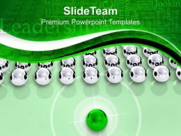 Leadership Concept With Silver Spheres PowerPoint Templates PPT Themes And Graphics 0213