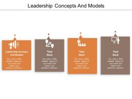 Leadership Concepts And Models Ppt Powerpoint Presentation Gallery Ideas Cpb