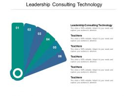 Leadership Consulting Technology Ppt Powerpoint Presentation Professional Background Cpb