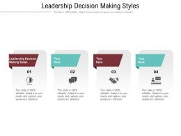 Leadership Decision Making Styles Ppt Powerpoint Presentation Picture Cpb