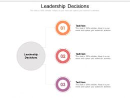 Leadership Decisions Ppt Powerpoint Presentation Slides Example Introduction Cpb