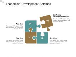 Leadership Development Activities Ppt Powerpoint Presentation Pictures Portfolio Cpb