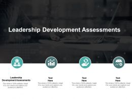 Leadership Development Assessments Ppt Powerpoint Presentation Portfolio Graphics Download Cpb