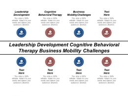 Leadership Development Cognitive Behavioral Therapy Business Mobility Challenges Cpb