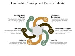 Leadership Development Decision Matrix Template Effective Hr Strategies Cpb