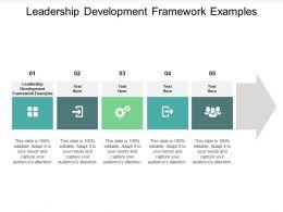 Leadership Development Framework Examples Ppt Powerpoint Presentation Inspiration Skills Cpb