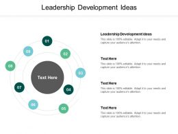 Leadership Development Ideas Ppt Powerpoint Presentation Gallery Icons Cpb