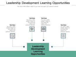Leadership Development Learning Opportunities Ppt Powerpoint Presentation Professional Cpb