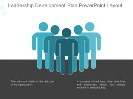 Leadership Development Plan Powerpoint Layout