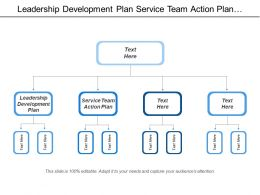 Leadership Development Plan Service Team Action Plan Customer Share
