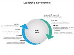 Leadership Development Ppt Powerpoint Presentation Model Deck Cpb