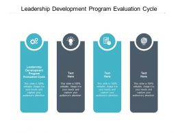 Leadership Development Program Evaluation Cycle Ppt Powerpoint Presentation File Example Introduction Cpb