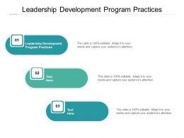 Leadership Development Program Practices Ppt Powerpoint Presentation Pictures Deck Cpb