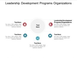Leadership Development Programs Organizations Ppt Powerpoint Presentation Inspiration Shapes Cpb