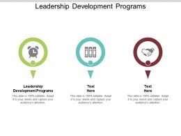 Leadership Development Programs Ppt Powerpoint Presentation File Graphics Pictures Cpb
