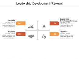 Leadership Development Reviews Ppt Powerpoint Presentation Portfolio Layout Cpb
