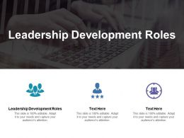 Leadership Development Roles Ppt Powerpoint Presentation Gallery Background Images Cpb