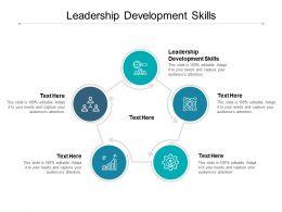 Leadership Development Skills Ppt Powerpoint Presentation Template Format Cpb