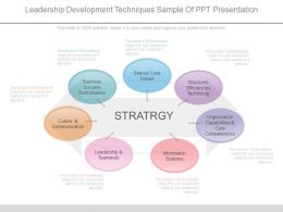 Leadership Development Techniques Sample Of Ppt Presentation