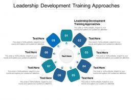 Leadership Development Training Approaches Ppt Powerpoint Presentation File Slides Cpb