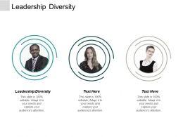 Leadership Diversity Ppt Powerpoint Presentation Portfolio File Formats Cpb