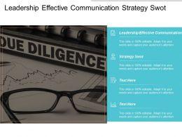 Leadership Effective Communication Strategy Swot Team Building Leadership Cpb