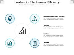 Leadership Effectiveness Efficiency Ppt Powerpoint Presentation Summary Cpb