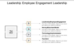 Leadership Employee Engagement Hersey Blanchard Model Technology Implementation Cpb