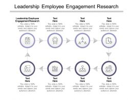 Leadership Employee Engagement Research Ppt Powerpoint Presentation Slides Inspiration Cpb
