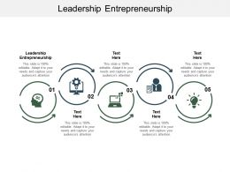 Leadership Entrepreneurship Ppt Powerpoint Presentation Pictures Slide Download Cpb
