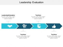 Leadership Evaluation Ppt Powerpoint Presentation Outline Master Slide Cpb