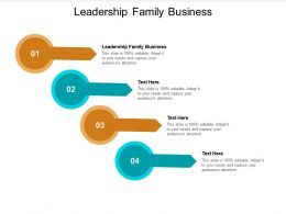 Leadership Family Business Ppt Powerpoint Presentation Professional Icons Cpb