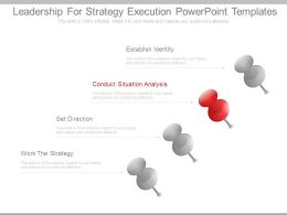 Leadership For Strategy Execution Powerpoint Templates