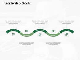 Leadership Goals Measurable Ppt Powerpoint Presentation Model Example