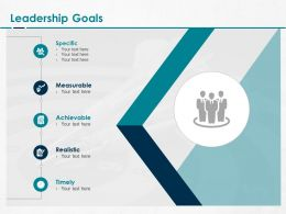 Leadership Goals Measurable Ppt Powerpoint Presentation Pictures
