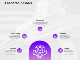 Leadership Goals Ppt Powerpoint Presentation Icon Sample